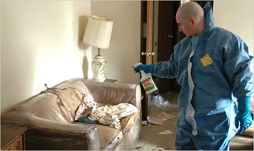 Crime scene cleaners make good pay but deal in blood